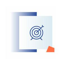 niebieska ikona przedstawiająca tarczę