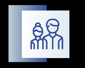 niebieska ikona przedstawiająca dwie osoby