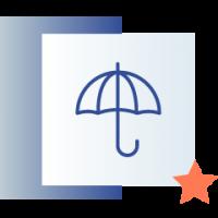 ikona przedstawiająca parasol
